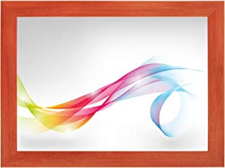 FRAMO 35 mm Bilderrahmen DIN A4 21 x 29,7 cm Bildmaß, Farbe: Terracotta, handgefertigter MDF Rahmen mit Anti-Reflex Kunstglasscheibe, Rahmen Breite: 35 mm, Außenmaß: 26,8 x 35,5 cm