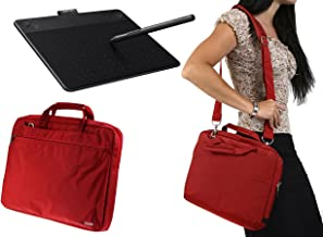 Navitech Small Red Graphics Tablet Case/Bag Compatible with The Wacom Intuos Comic
