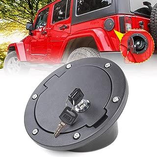 JeCar Fuel Door Cover Locking Gas Cap Cover for 2007-2018 Jeep Wrangler JK & Unlimited