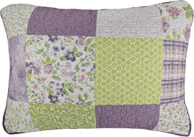 Donna Sharp Pillow Sham - Forget Me Not Contemporary Decorative Pillow Cover with Multicolored Pattern - Standard