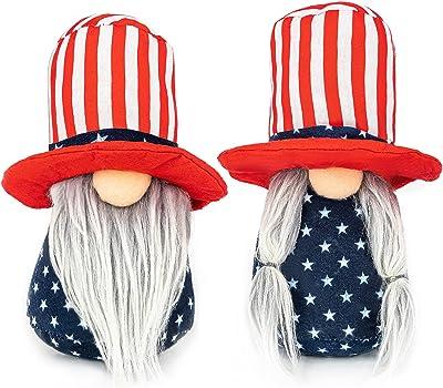 American Dependence gnome Decor, Round hat, 2 of Set (Big)