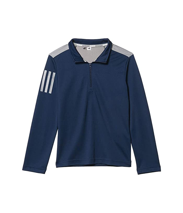 adidas Golf Kids  3-Stripes Pullover (Little Kids/Big Kids) (Collegiate Navy) Boys Clothing