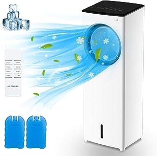 Raffreddatore D'aria 4 in 1, Climatizzatore portatile con timer,Umidificatore,Ventilatore,Purificatore,3 Modalità 3 Veloci...