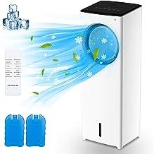 Climatiseur Portable 110W, MELOPHY 4 en 1 Refroidisseur d'air par Évaporation 3.5L, Ventilateur Humidificateur d'air & 3 M...