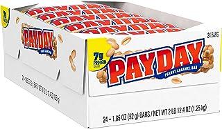 PAYDAY Peanut and Caramel Candy, Halloween Bulk Candy, 1.85 oz Bars (24 ct)