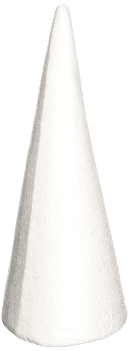 Darice 01260P 1-Piece Dura Foam Cone for Craftwork, 9.85-Inch