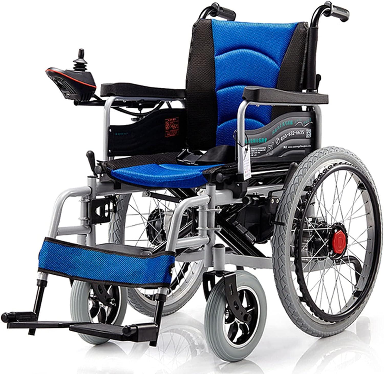 TKTTBD Sillas de Ruedas Eléctricas para Adultos Transporte Ligero Plegable Motorizado Diseño Plegable Ligero de Scooter Eléctrico, Apto para Ancianos y Discapacitados B,24V12A