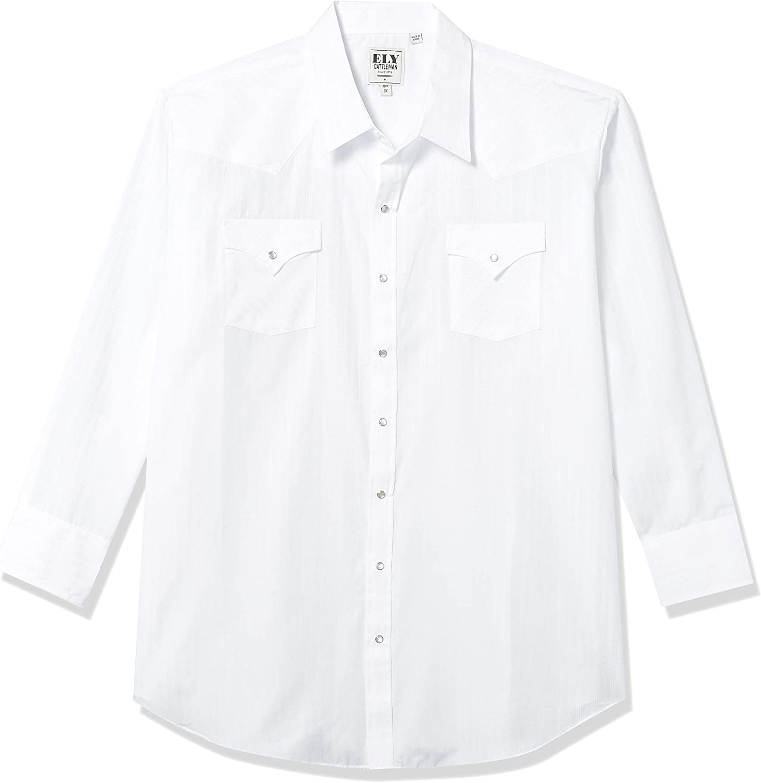 ELY CATTLEMAN mens Long Sleeve Tone on Tone Western Shirt