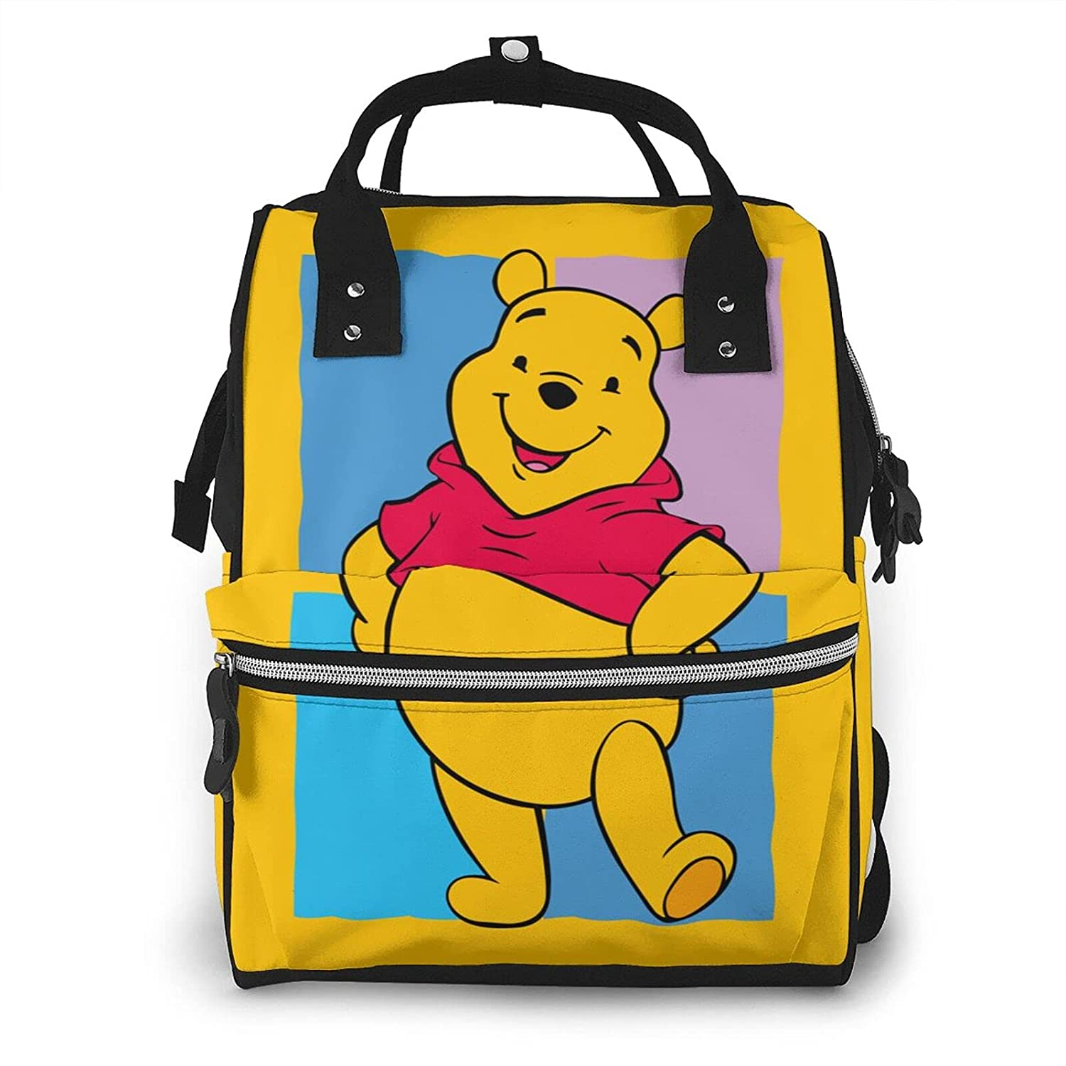 YUAKUOD Win-nie The-Pooh Diaper Bags Mummy Backpack Multi Functions Large Capacity Nappy Bag Nursing Bag Waterproof Durable & Stylish for Woman and Men Baby Bag