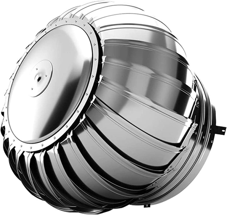 LTLCBB Sombrero de Chimenea Extractor de Humo Giratorio de Viento, 304 Acero Inoxidable Cubierta de Chimenea para Todos Los Sistemas de Ventilación de Ventilación de Pared,250mm