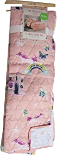 Ivy Hill Home Magical Pink Unicorns Castles and Rainbows Childrens Bedding Quilt (Twin)