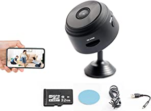 MNZ Mini HD 1080P Wireless Hidden Camera - for Home, Car, Nanny Cam - with 32GB SD Card and Magnetic Feature for Easy Installation - Motion Detection Activated, Night Vision Spy Cam - Mini Spy Camera