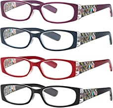 ALTEC Vision Women's Reading Glasses – 4 Pairs Ladies Fashion Print Readers 1.75