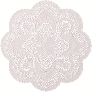 12 inch Off White Paper Lace Table Doilies – French Style Decorative Tableware Disposable Placemats (pack of 50)