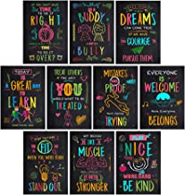Ihopes Inspirational Motivational Quotes Posters Wall Art for Classroom & Office | Perfect Decorations for Teachers/Students/Kids/School Counselors/Home & Office | Set of 10 (Chalkboard Style)