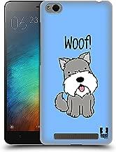 Head Case Designs Schnauzer Happy Puppies Hard Back Case Compatible for Xiaomi Redmi 3