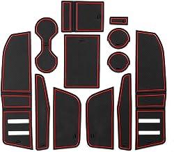 CDEFG para Q3 F3 2019 Coche Accesorios Antideslizante Copa Mats Anti Slip Puerta Ranura de Acceso Kit de la Estera del cojín de la Ranura decoración de Interiores (Rojo)