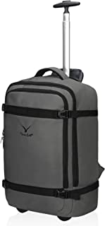 42L Rolling Backpack Wheeled Backpack Flight Approved Carry on Luggage Travel Backpack Grey