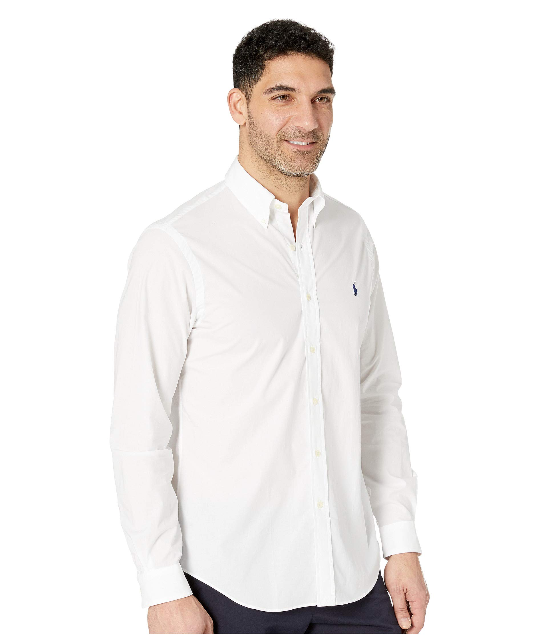 White Poplin Shirt Lauren Ralph Sport Polo XYnpR8Ww