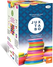Foxmind, Juxtabo, Strategy Game, Create Patterns with Colored Chips Patterns and Challenge Cards, Colorful 3D Game