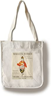 Lantern Press Ballets Russes (Artist: Picasso) France c. 1917 - Vintage Advertisement (100% Cotton Tote Bag - Reusable)