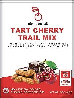 Cheribundi Trail Mix – 50 Tart Cherries Per Pack (Pack of 30) Mixed with Dark Chocolate and Almonds, Healthy Snack, Antiox...