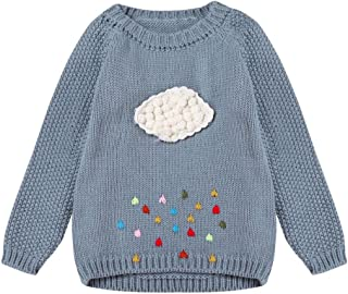Xshuai for 3-7 Years Old Kids Fashion Cute Newborn Infant Toddler Baby Girl Cloud Sweater Knit Pullovers Warm Coat Outerwear Clothes