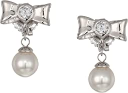 Romance 6 mm Pearls Post CZ Sterling Silver Earrings