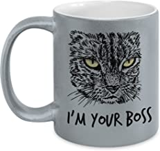Cat Lover Metallic Coffee Mug or Gift for your BOSS, Have fun
