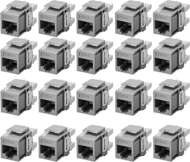 25-Pack Crimson CAT 6 Leviton 61110-BC6 Extreme 6+ QuickPort Connector