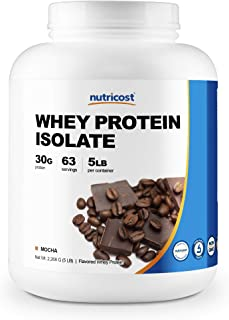 Nutricost Whey Protein Isolate (Mocha) 5LBS - Gluten Free & Non-GMO