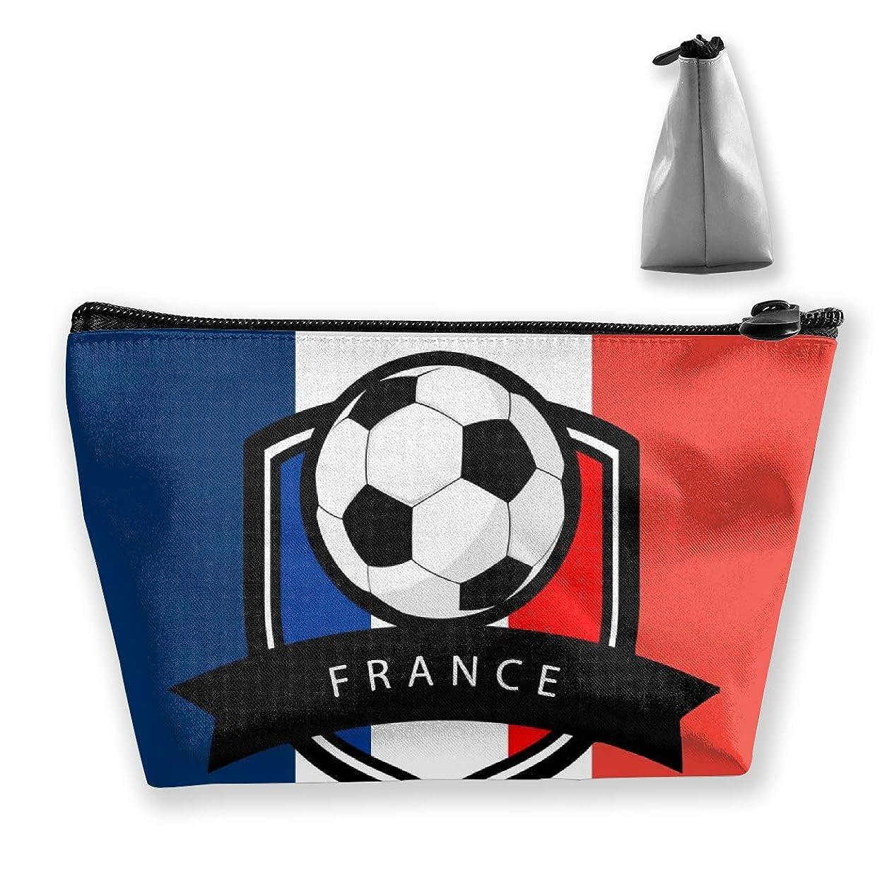 ハンサムピカソリスクフランス国旗サッカー 収納ポーチ 化粧ポーチ トラベルポーチ 小物入れ 小財布 防水 大容量 旅行 おしゃれ