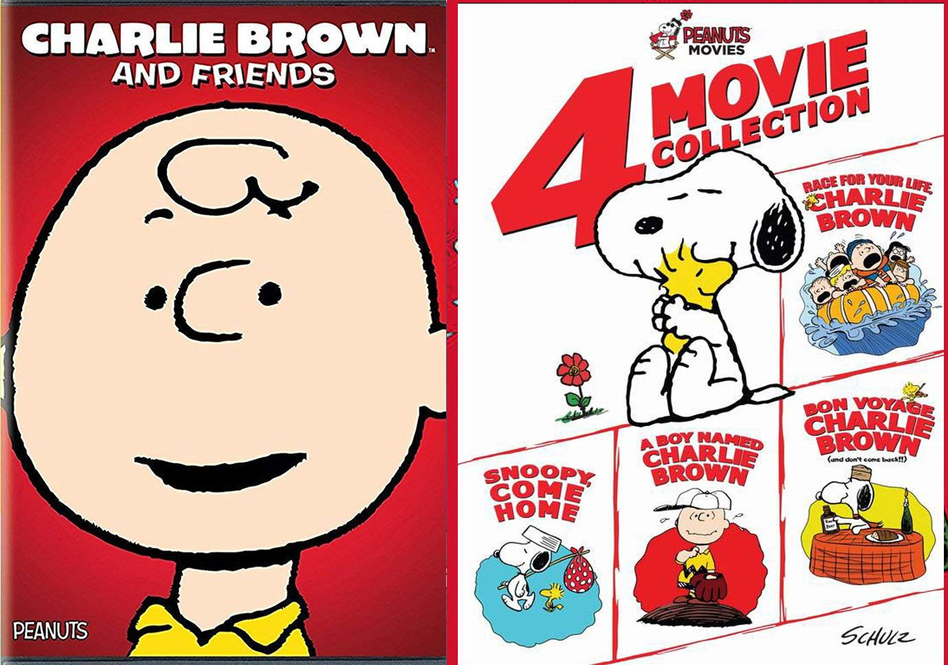 Big Hearted Dreams Kids Adventure Peanuts Family Race for your life & Snoopy Bon Voyage Home DVD & Happiness Charlie Brown Boy Feature & Gang Bonus Snoopy's Snippets movie Pack