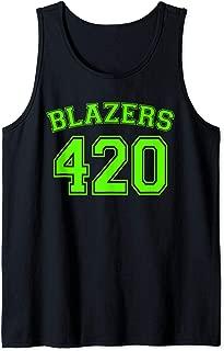 Blazers 420 - Fun Stoner Jersey Marijuana Weed Mens Womens Tank Top