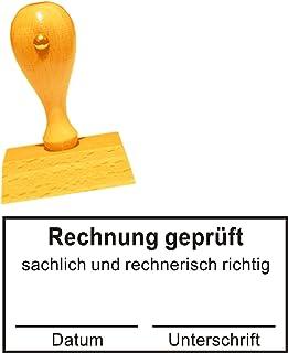 Stempel Bürostempel RECHNUNG GEPRÜFT - Buchungsstempel Kon