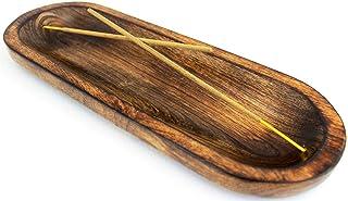 Kaizen Casa Incense Burner Stick Holder Ash Catcher Wooden Handmade Modern Gift Wood Home Decor Size 11 X 4 X 1.2 Inches
