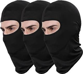 Pack of 3 Lycra Bandana Face Hat Outdoor Airsoft Motorcycle Ski Mask Winter Sun Balaclava Black Tactical Hood Helmet