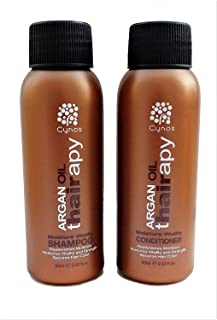 Moroccan Argan Oil Ultra Hydrating Shampoo & Conditioner Travel Set- Repairs dry and damaged hair- Restores Shine and Softness For all hair types. 2 fl oz. each