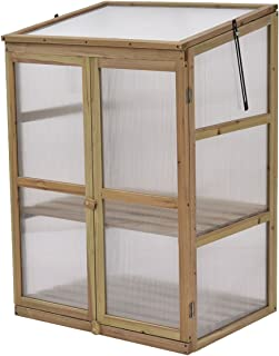 Asher Amada Garden Portable Wooden GreenHouse Cold Frame Raised Plants Shelves Protection