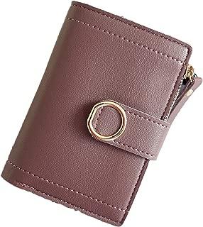 Women Wallets Small Fashion Brand Leather Purse Card BagClutch Women Female Purse Money Clip Wallet,Violet
