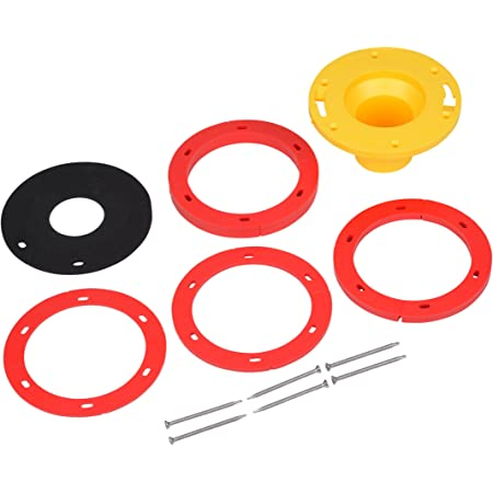 """Set-Rite Products Oatey-43400 43400 Set-Rite 1/4 in. to 1-5/8 in. Toilet Flange Extender Kit, 1-5/8"""", Red, Yellow"""