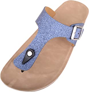 ABSOLUTE FOOTWEAR Womens Casual Glitter Slip On Summer/Holiday Sandals/Shoes/Flip Flops