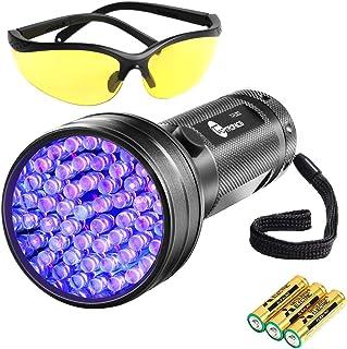 TaoTronics Black Light, 51 LEDs UV Blacklight Flashlights, Free UV Sunglasses and 3 Batteries Included, Detector for Dry P...