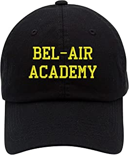 TOP LEVEL APPAREL Bel-Air Academy Text Embroidered Low Profile Soft Crown Unisex Baseball Dad Hat