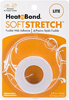 HeatnBond SoftStretch Lite Iron-On Adhesive, 5/8 Inch x 10 Yards