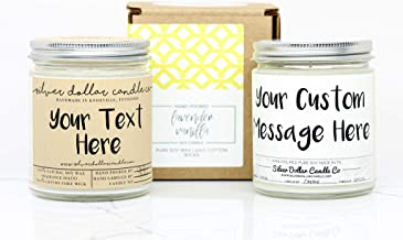 Personalized Scented Soy Candle - Custom Hand Crafted Gift made with 100% Soy Wax.