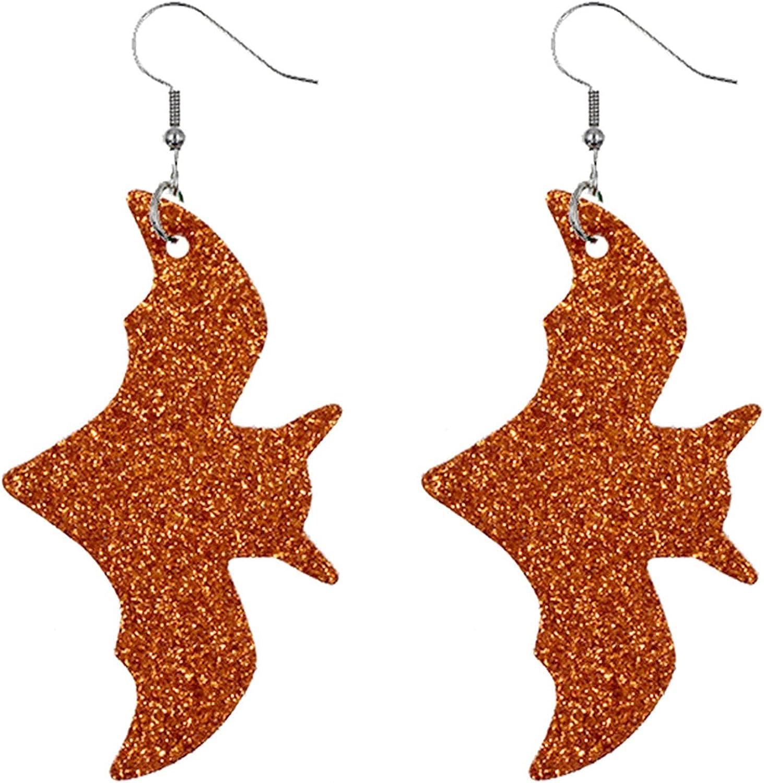 Nopeak Halloween Teardrop Earrings Halloween Drop Dangle Earrings Pumpkin Black Pumpkin Stud Earrings for Women Halloween Party Dress