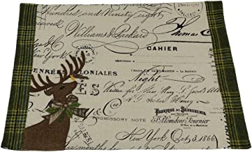 Xia Home Fashions Reindeer with Applique Suede Collection Christmas Placemat, 13 by 18-Inch
