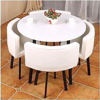 Mesa de comedor Juego de muebles Comedor moderno Mesa y Juego de sillas 4 simple del estilo de muebles de cocina for restaurante Balcón Cafe Lounge recepción 90cm La negociación de negocios Cafetería