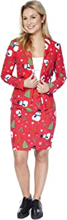 OppoSuits Christmas Suits for Women - Christmiss - Xmas Costumes Include Blazer and Skirt - US 6